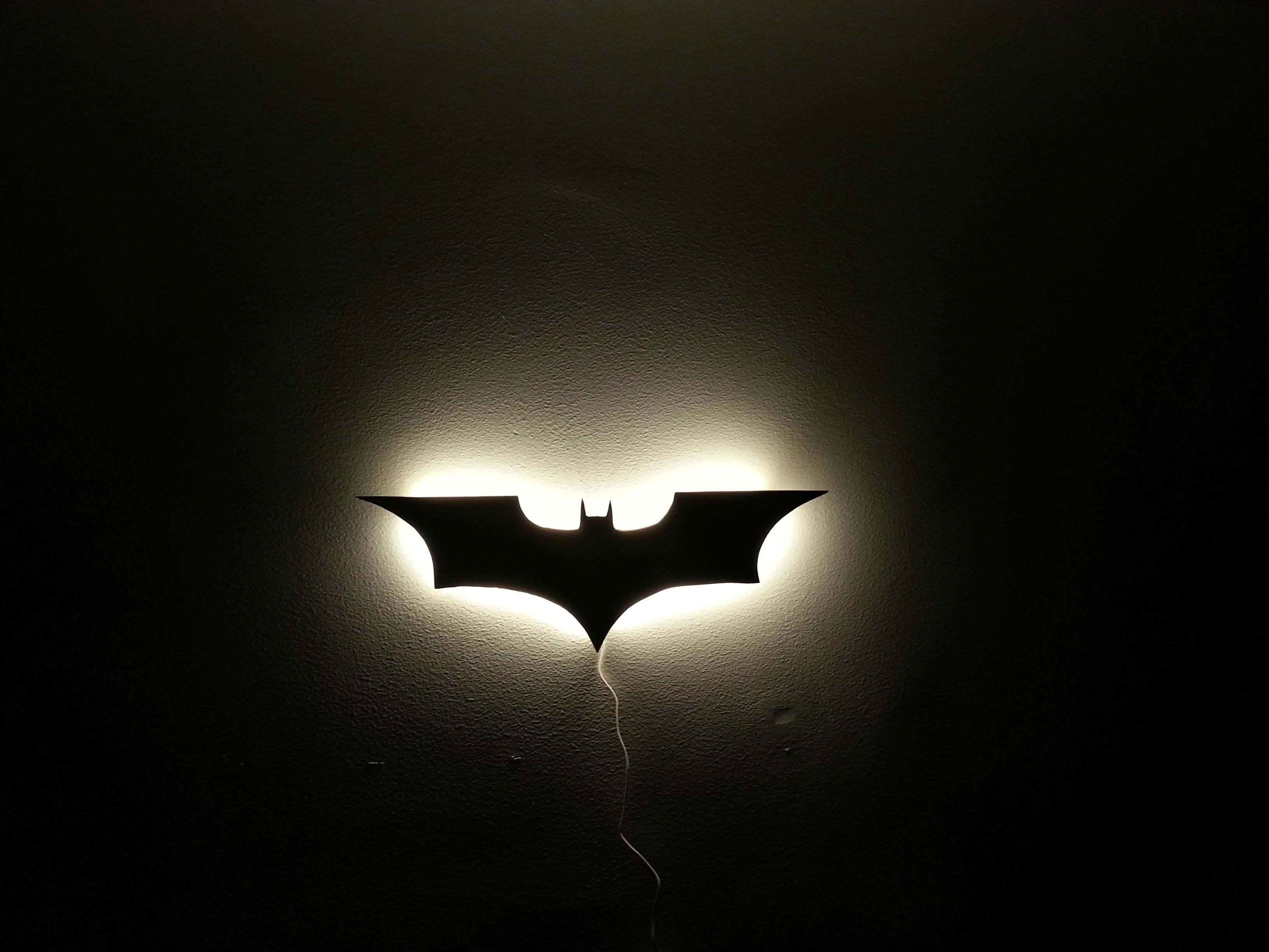 My own batman wall lamp batman lamp batman and walls batman lamp aloadofball Choice Image