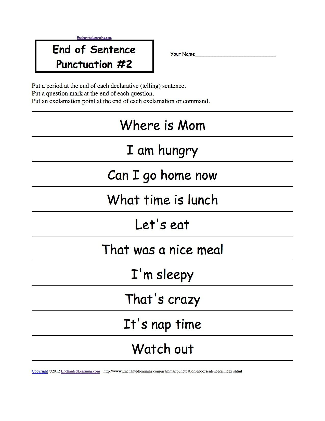 3rd Grade Punctuation Worksheets Di