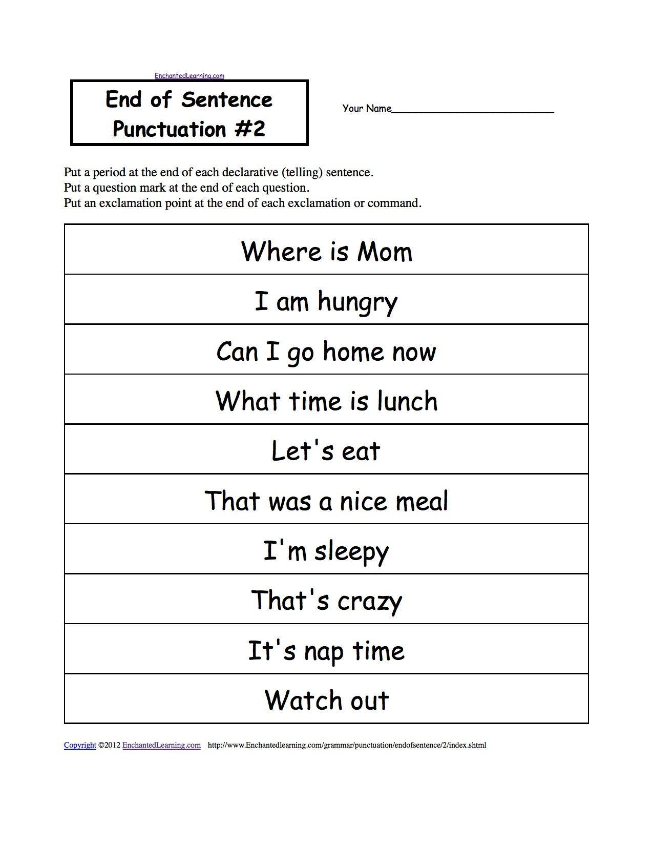 3rd Grade Punctuation Worksheets Di
