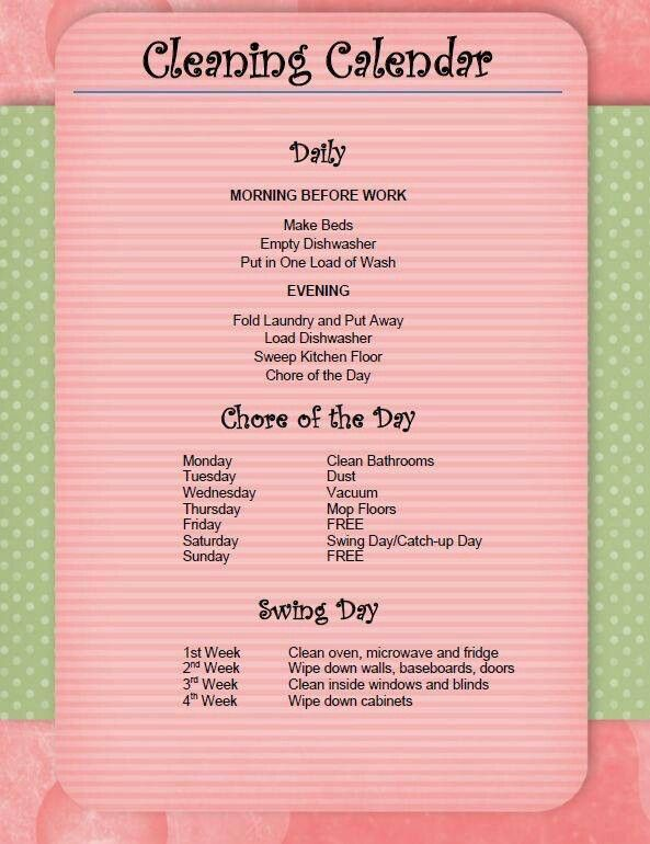daily chore list
