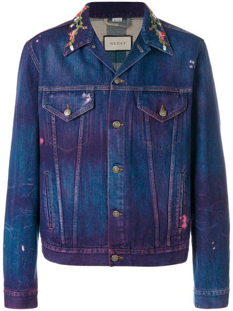 dbd0f3547ab6 GUCCI embroidered denim jacket. #gucci #cloth # | Gucci Men ...