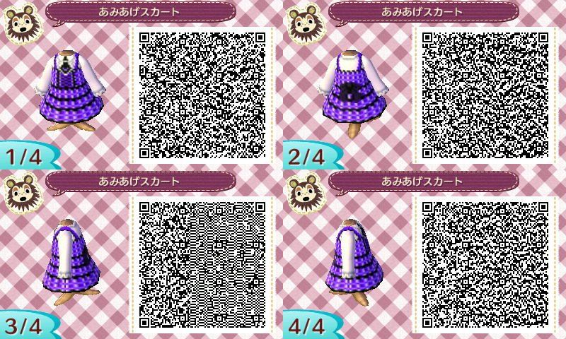 Animal Crossing New Leaf QR code dress