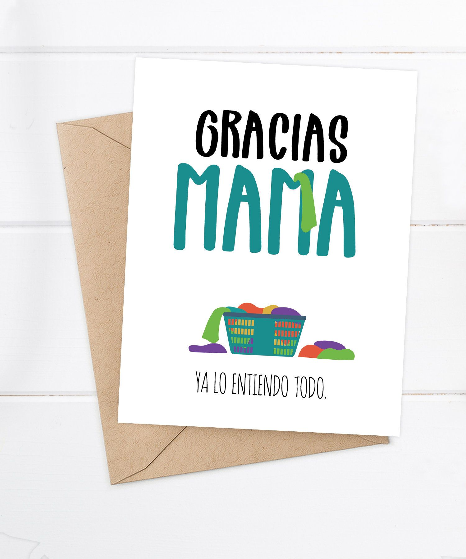 Spanish Mother S Day Cards Funny Spanish Cards By Flairandpaper