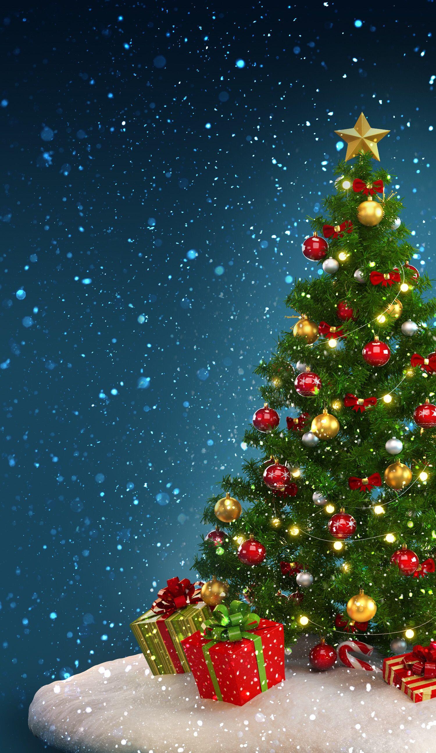 Christmas lights background tumblr christmas tree blur tablet phone - Christmas Tree Wallpaper