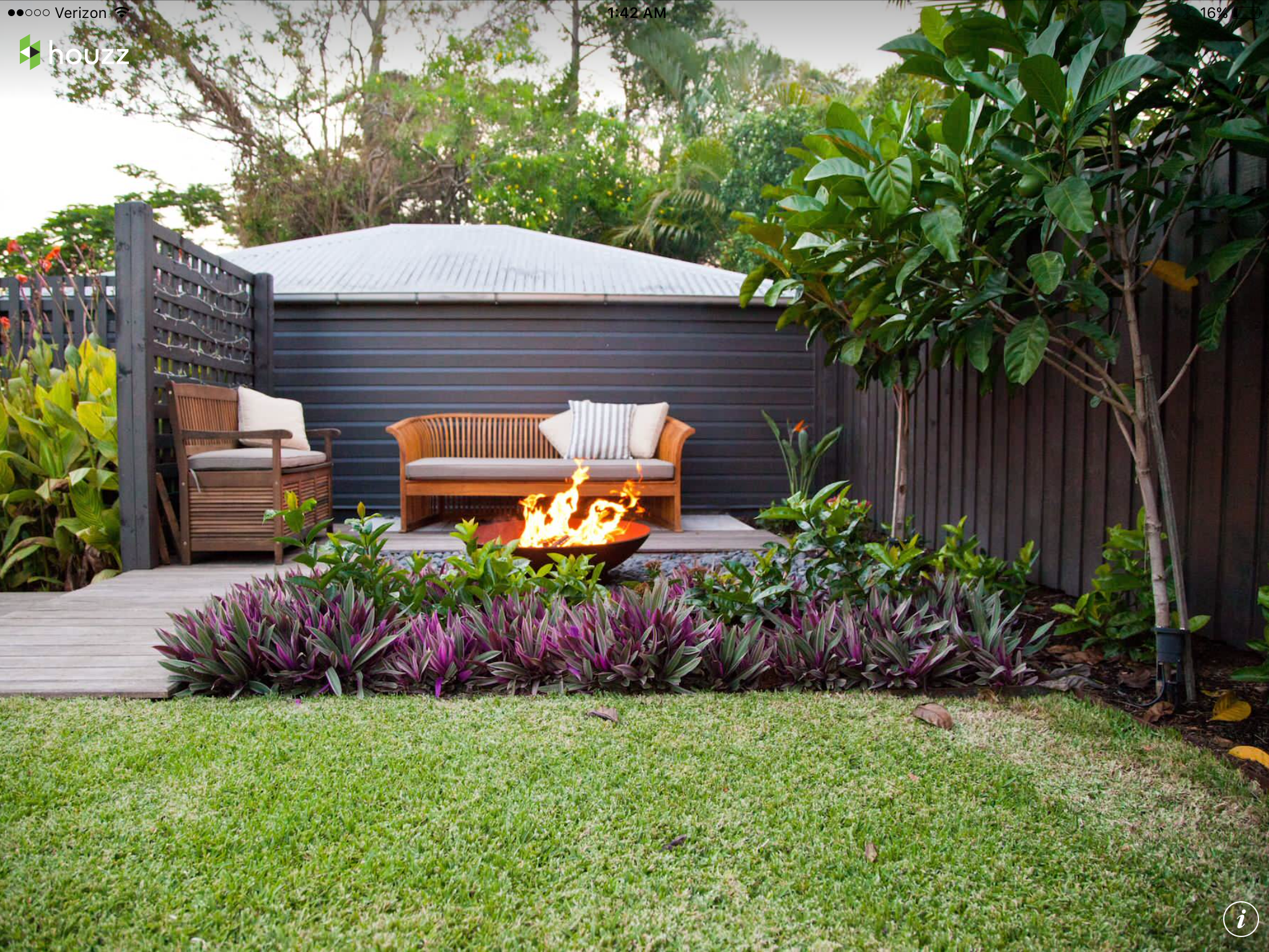 Pin By Pam Mclean On Our House Yard Garden Small Backyard Landscaping Tropical Patio Small Garden Landscape Design