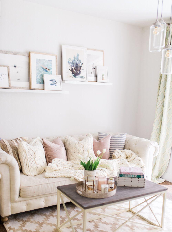Neutral + blush living room || @liketoknow.it http://liketk.it/2r8xK ...