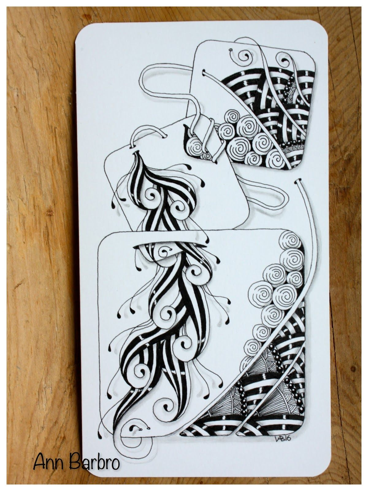 ZIA.. Slits and tiles and tangles Doodle art, Art