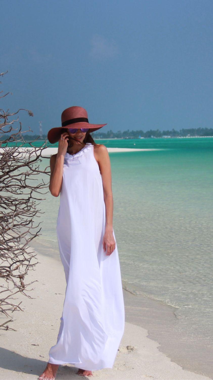 051fa6b629d0c7b Блузки ручной работы. Ярмарка Мастеров - ручная работа. Купить Белое пляжное  платье. Handmade. Белый, красивое платье