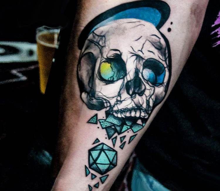 Skull tattoo by Barbara Kiczek