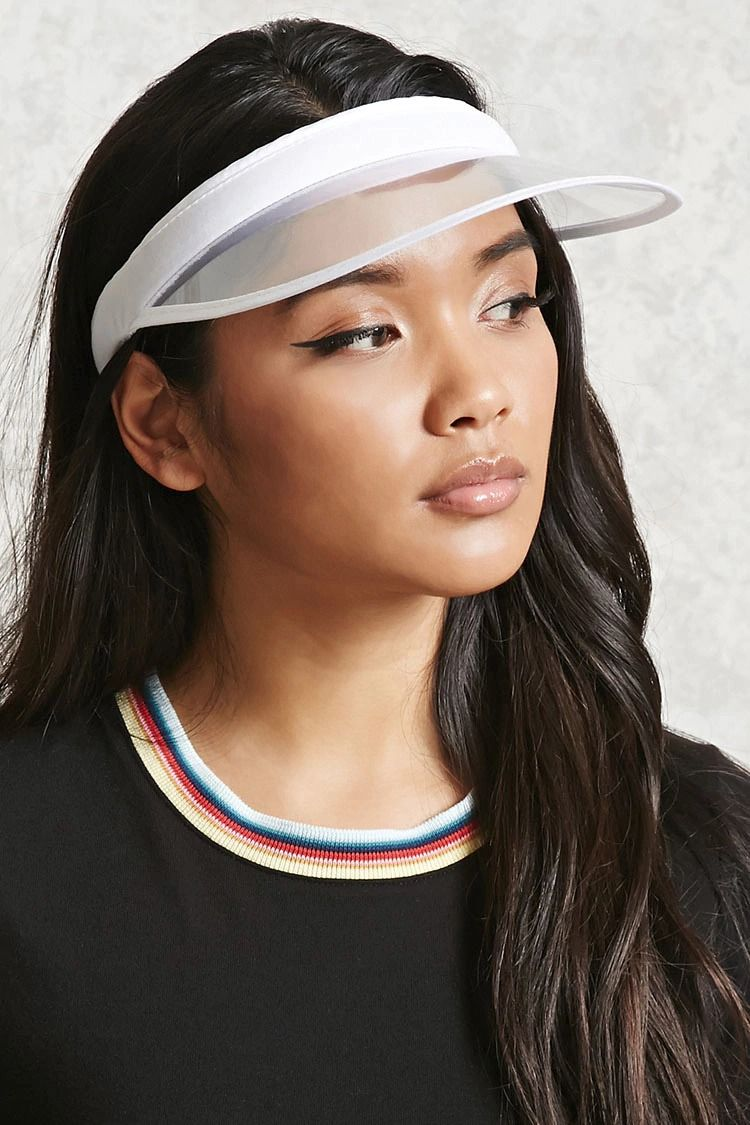 A Clear Visor Featuring A French Terry Lining And An Open Back Visor Hairstyles Visor Hats Outfits With Hats