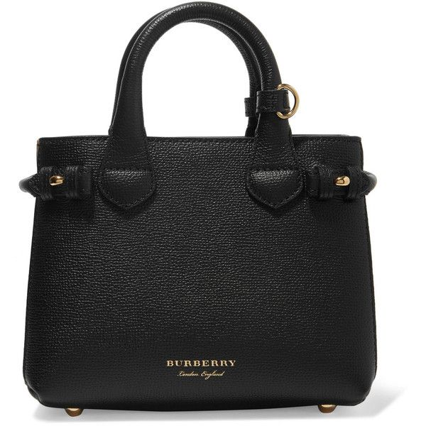 Textured-leather And Checked Canvas Tote - Black Burberry wnYLVti6