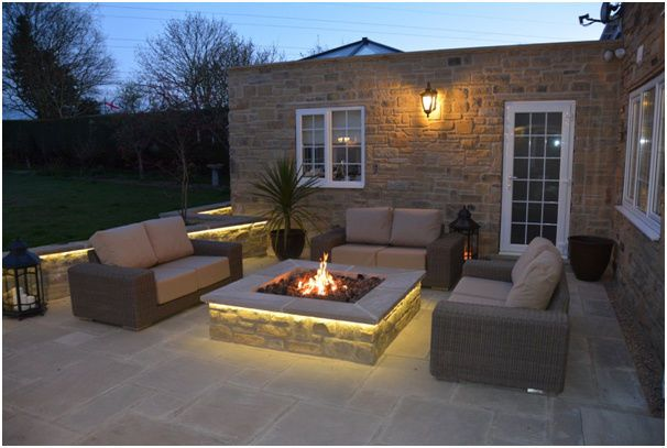 Fire Pit Designs · BRIGHTSTAR Mains Natural Gas Fire Pit Burner Only.  Square. 18kw Patio Heater UK
