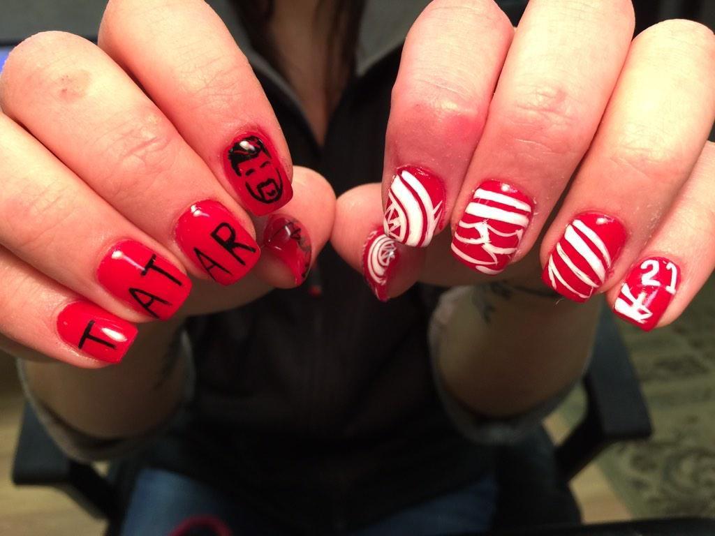 Tomas tatar detroit red wings nail art i need these hockey tomas tatar detroit red wings nail art i need these prinsesfo Choice Image