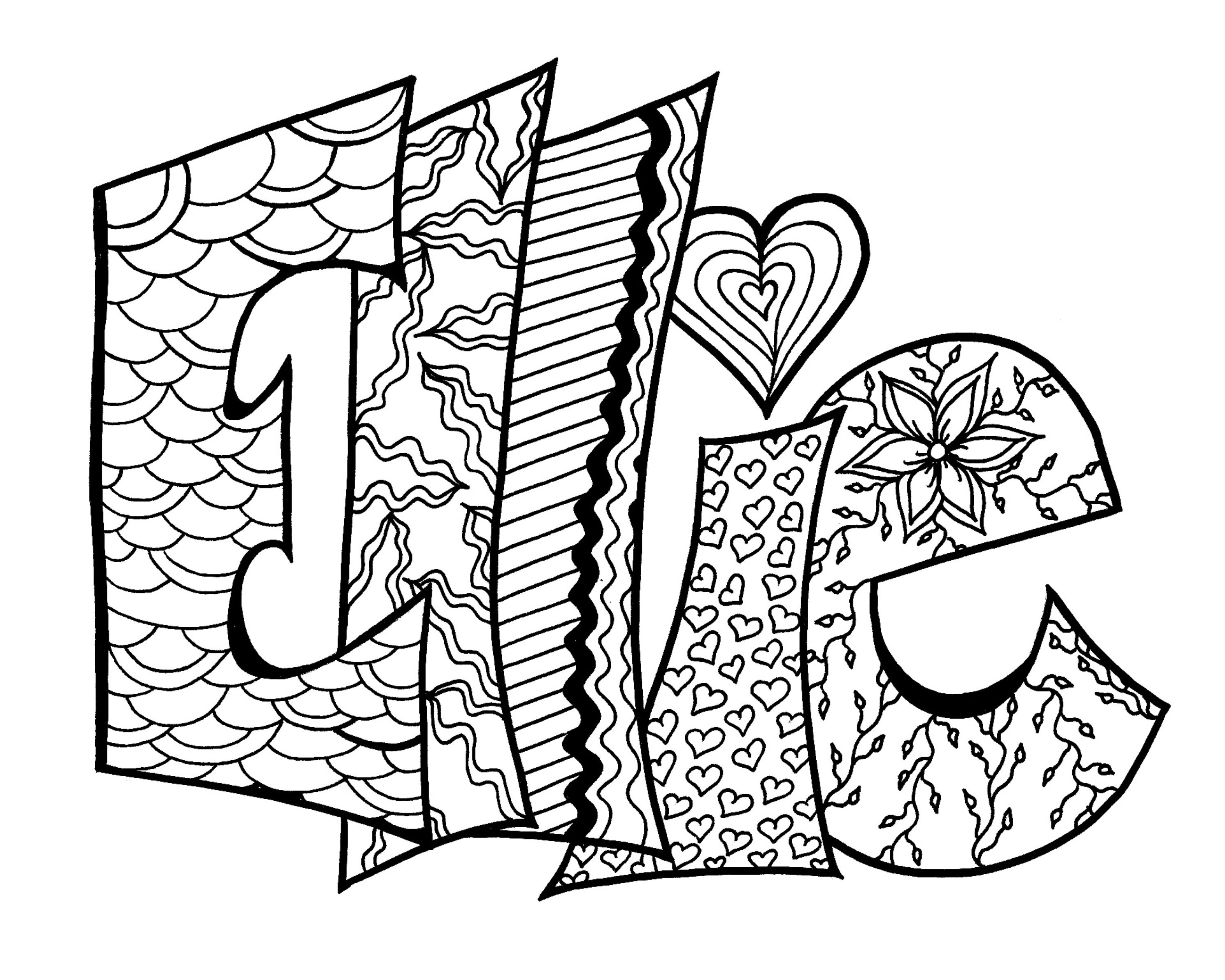 DIGITAL** Custom Coloring Page Purchase this item and include a note with the name or word you