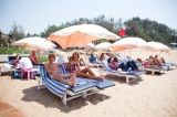 We have placed our sunbeds right on the #beach.  #Sunbathing #Goa #Travel #India #Vacation