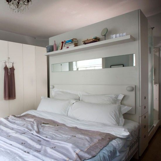 Delightful Master Bedroom · Oversized Headboard As Room Divider ...