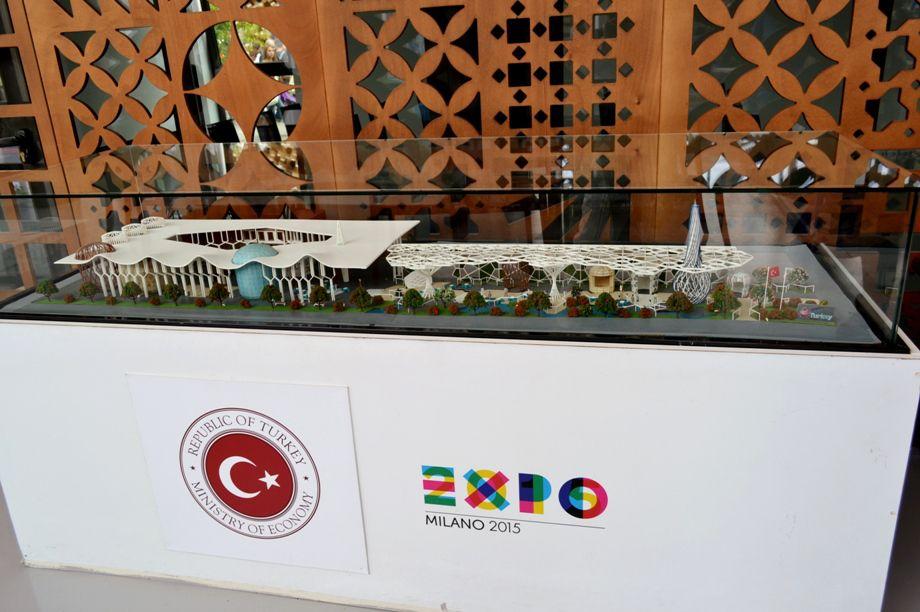 Nadia Mikushova. A view to a model of the Turkey Expo Milano 2015 pavilion.