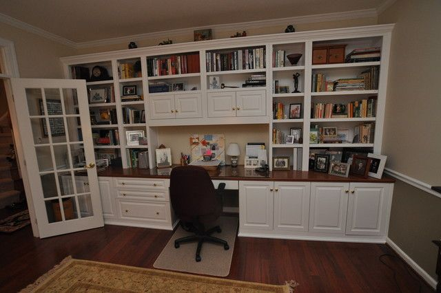 Built-in desk and bookcase | House Ideas | Pinterest | Desks, Craft room design and Organizations
