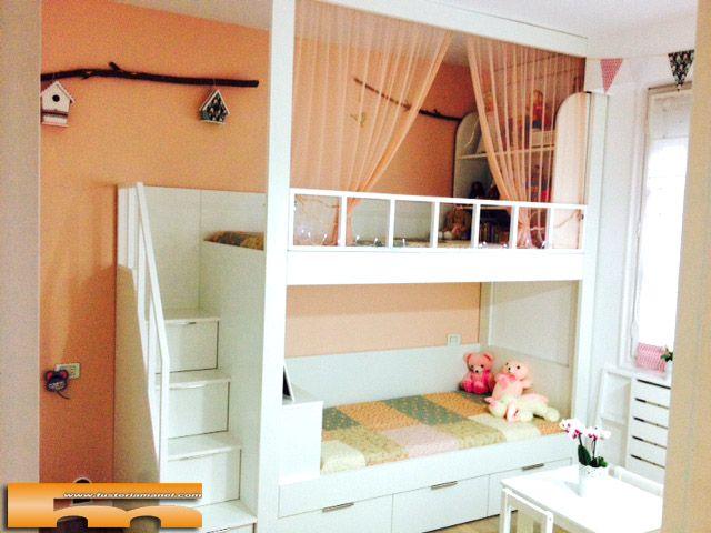 litera escalera de cajones habitacin infantil guipuzkoa miren habitacin infantil a medida con litera