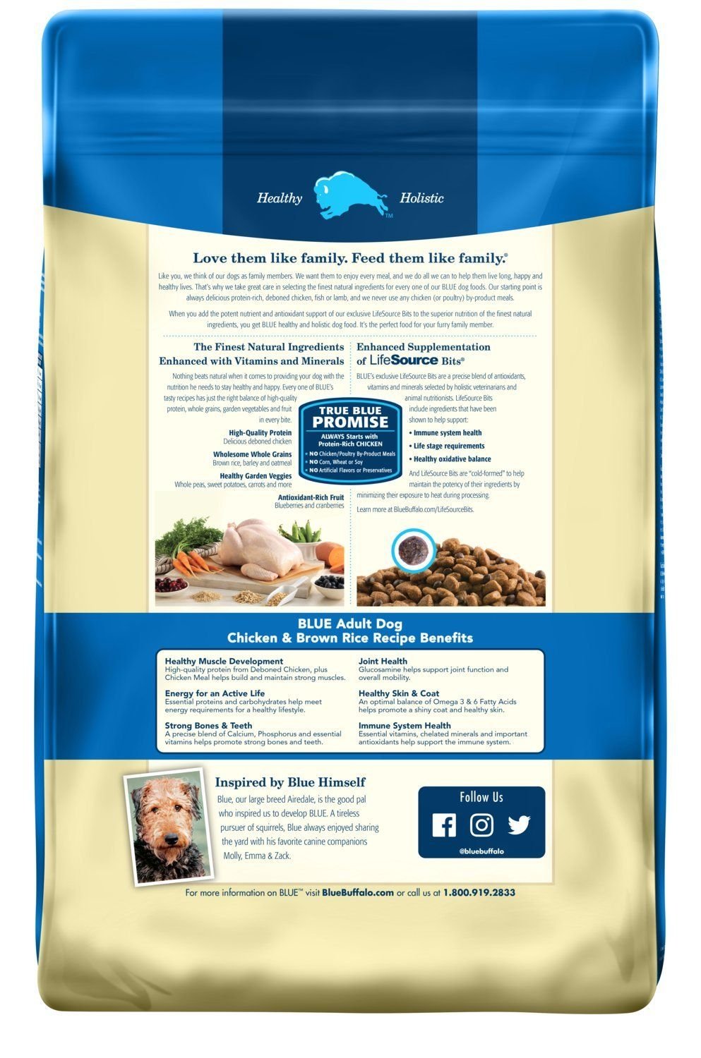 Blue Life Protection Formula Adult Chicken And Brown Rice Dry Dog