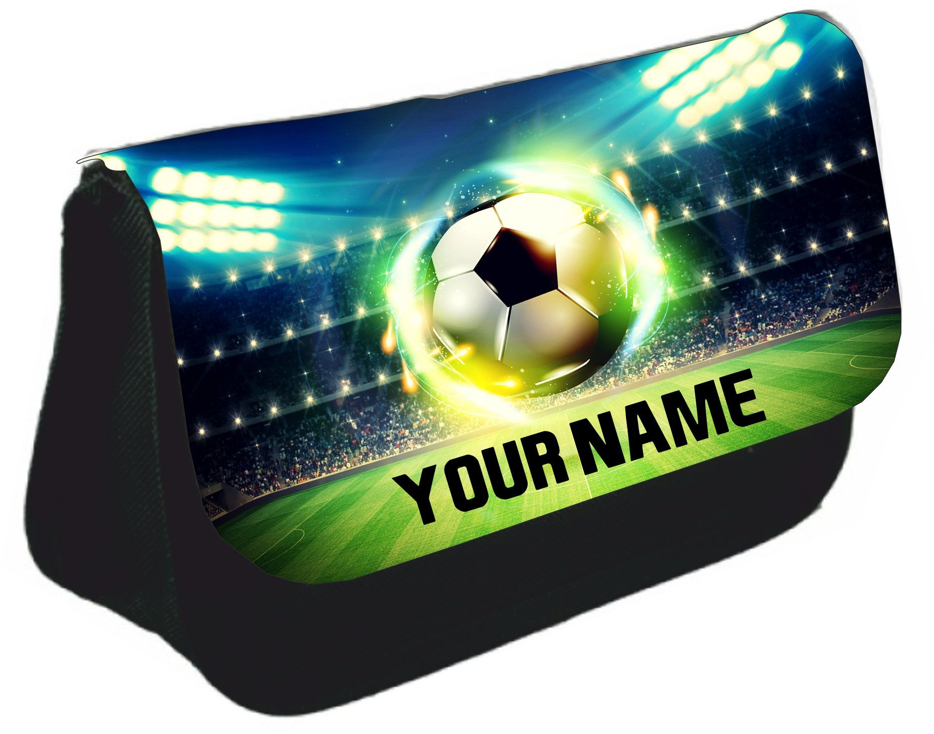 Personalised pencil case bag football back to school boys