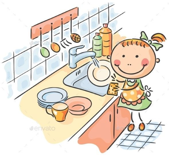 Girl Washing the Dishes Dishes, Font logo and Fonts