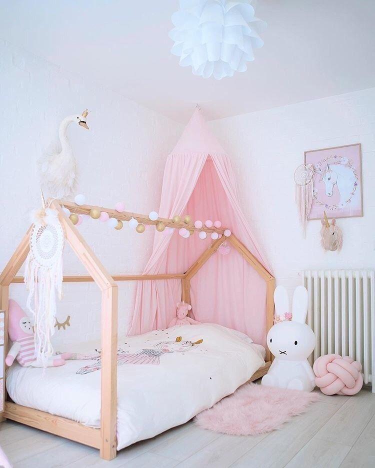 The K 울산 어린이침대 하우스타입으로 구성된 아이방 인 1000 In 2020 Toddler Bed Girl Toddler Girl Room Pink Bedroom For Girls