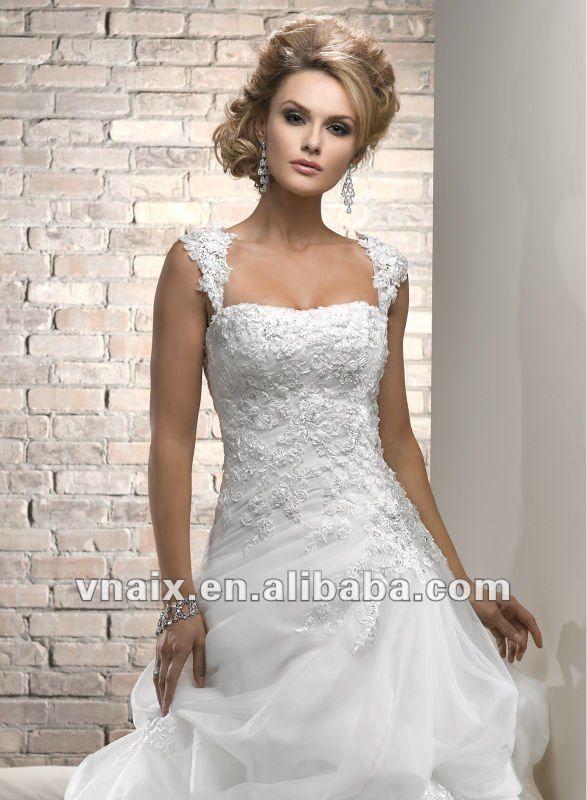 W0601 White Formal Lace Unique Wedding Dress P… | Wedding Dresses ...