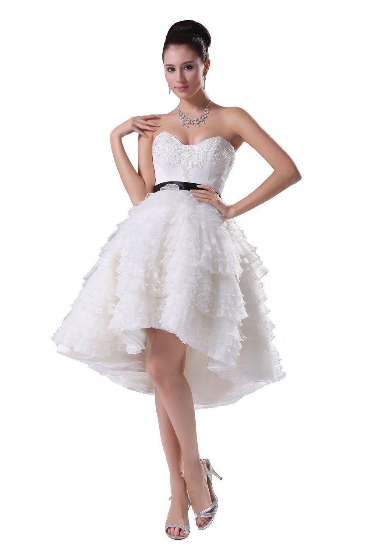 83f2f84aa3a80 Amazon.co.jp  手作りビーズ ティアド プリンセスライン 姫系 可愛いミニドレス 白 ウェディングドレス 結婚式 ドレス 二次会ドレス  パーティードレス 結婚式 安い ...