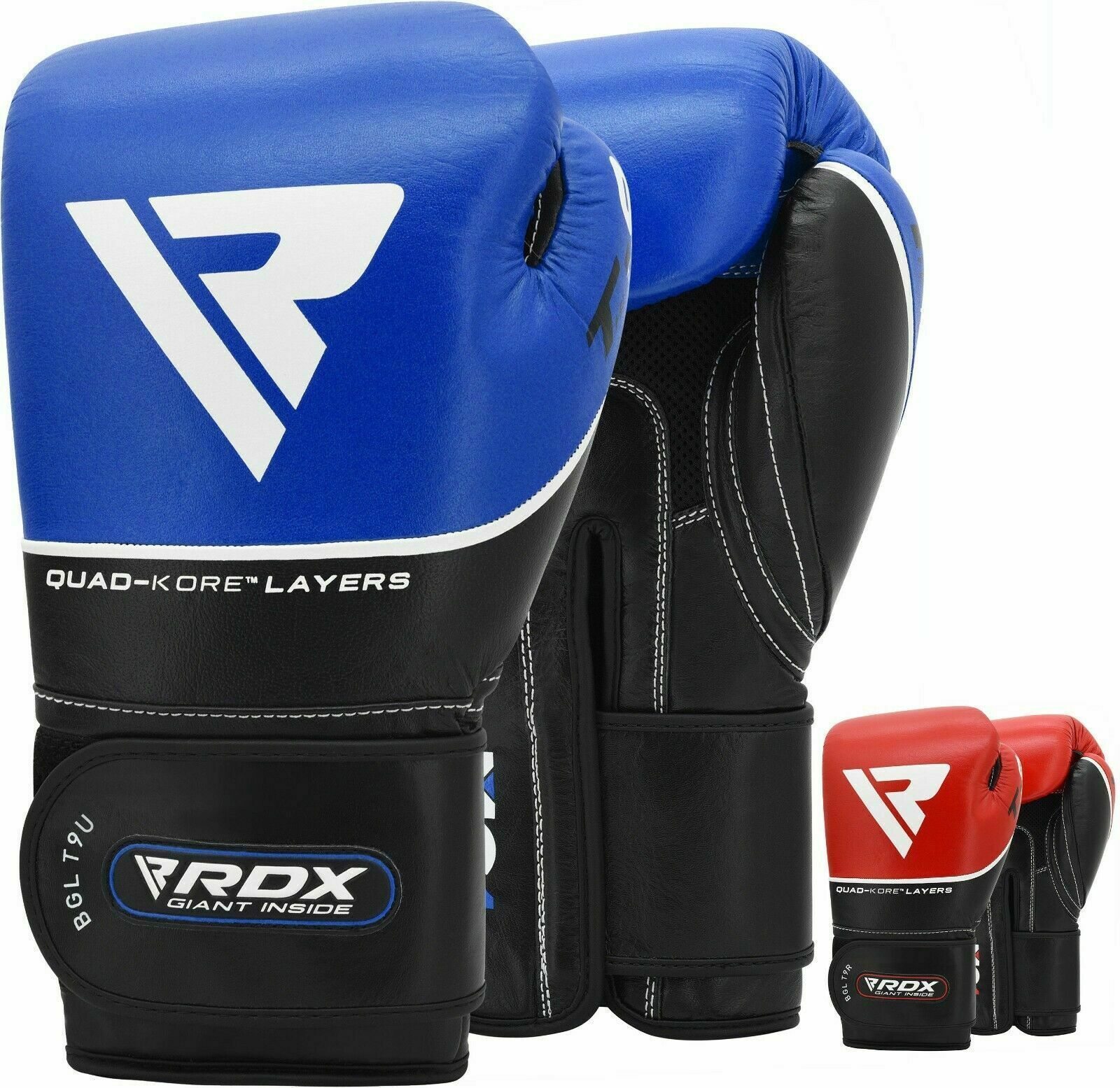 Leather Boxing Gloves MMA Training Sparring Punch Bag MuayThai Kickboxing