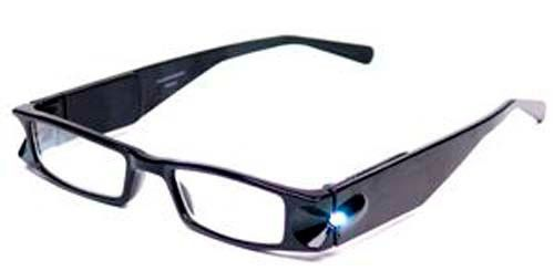 194a101f3f9 Foster Grant Lightspecs Illuminated Readers Black +5.00 LED Magnifying  Glasses