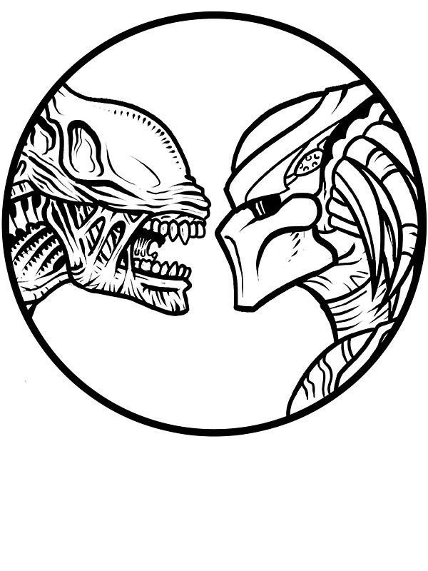 Alien vs predator sticker by dellan666