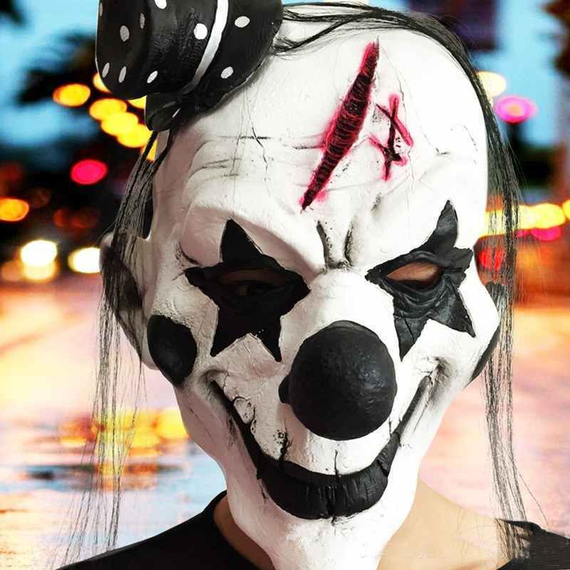 Latex Halloween Horror Clown Party Mask Face Mask Party  Unbranded   Asshowninthepicture Scary Clown Mask 1ccdeb34933b2