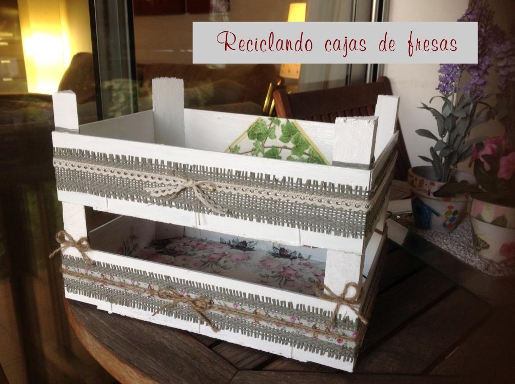 reciclando cajas fresas