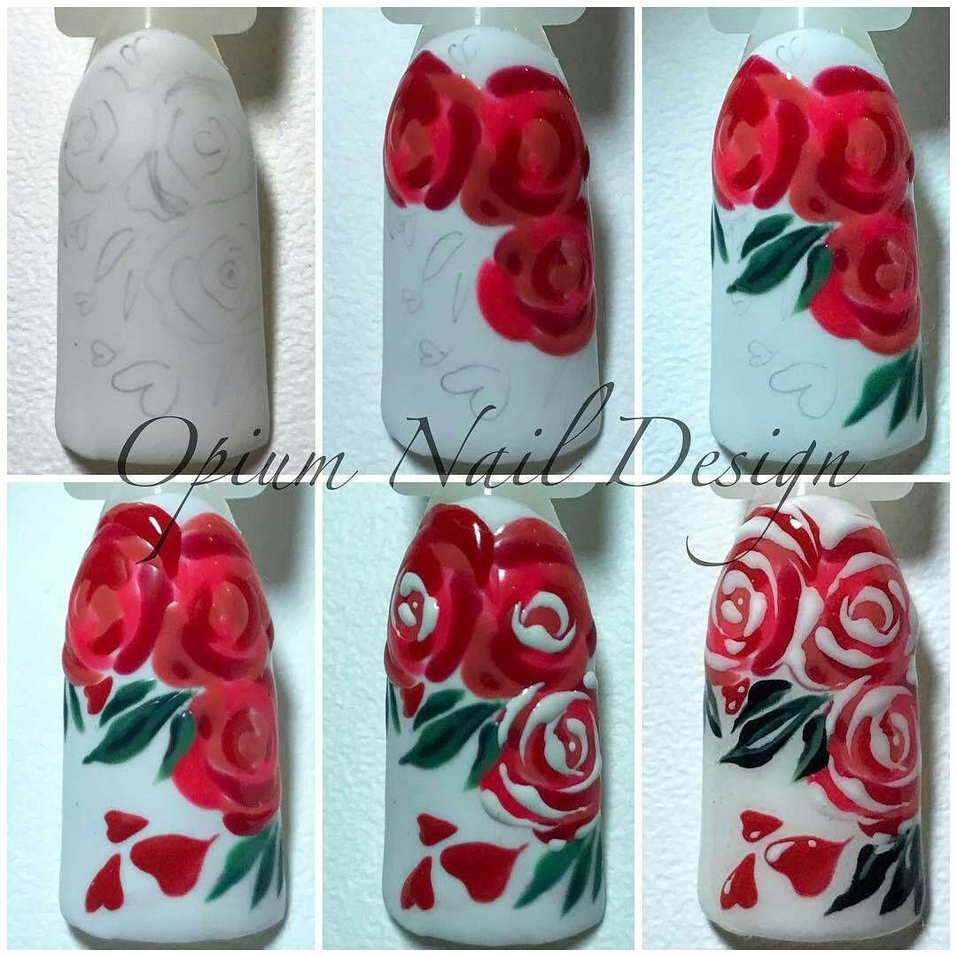 дизайн ногтей розы фото пошагово всегда относился ней