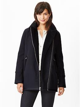 sherpa moto coat from the gap.