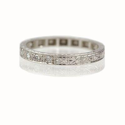 Circa 1920s Wedding Band R612 01
