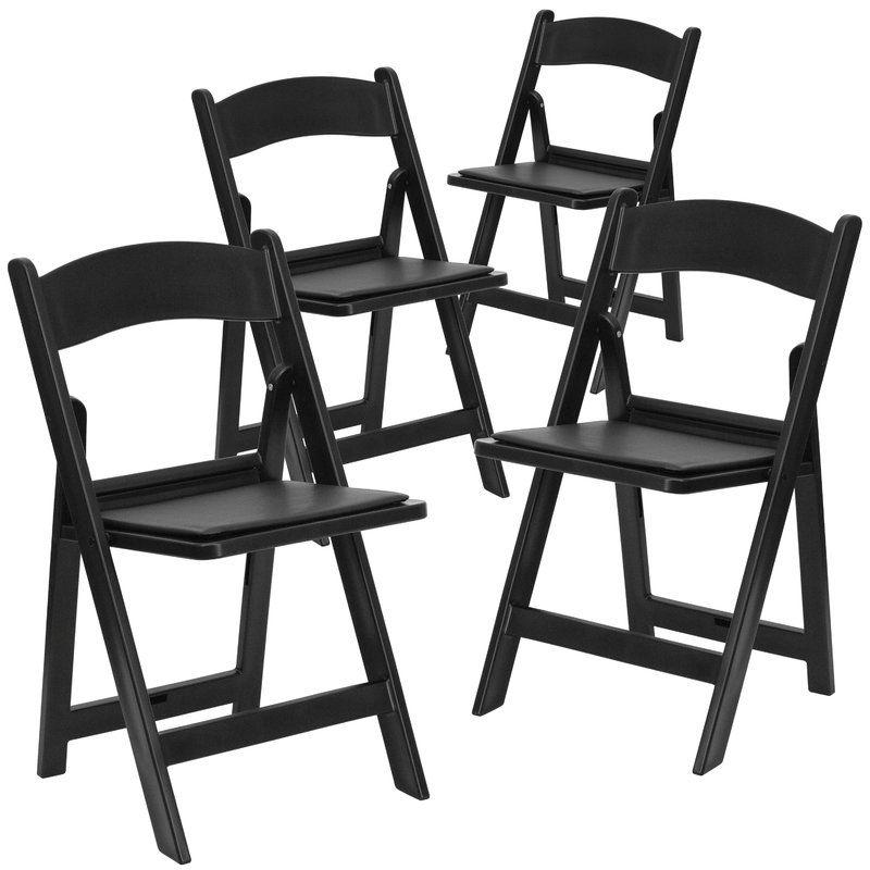 Laduke Vinyl Padded Folding Chair Folding Chair Padded Folding Chairs Wood Folding Chair