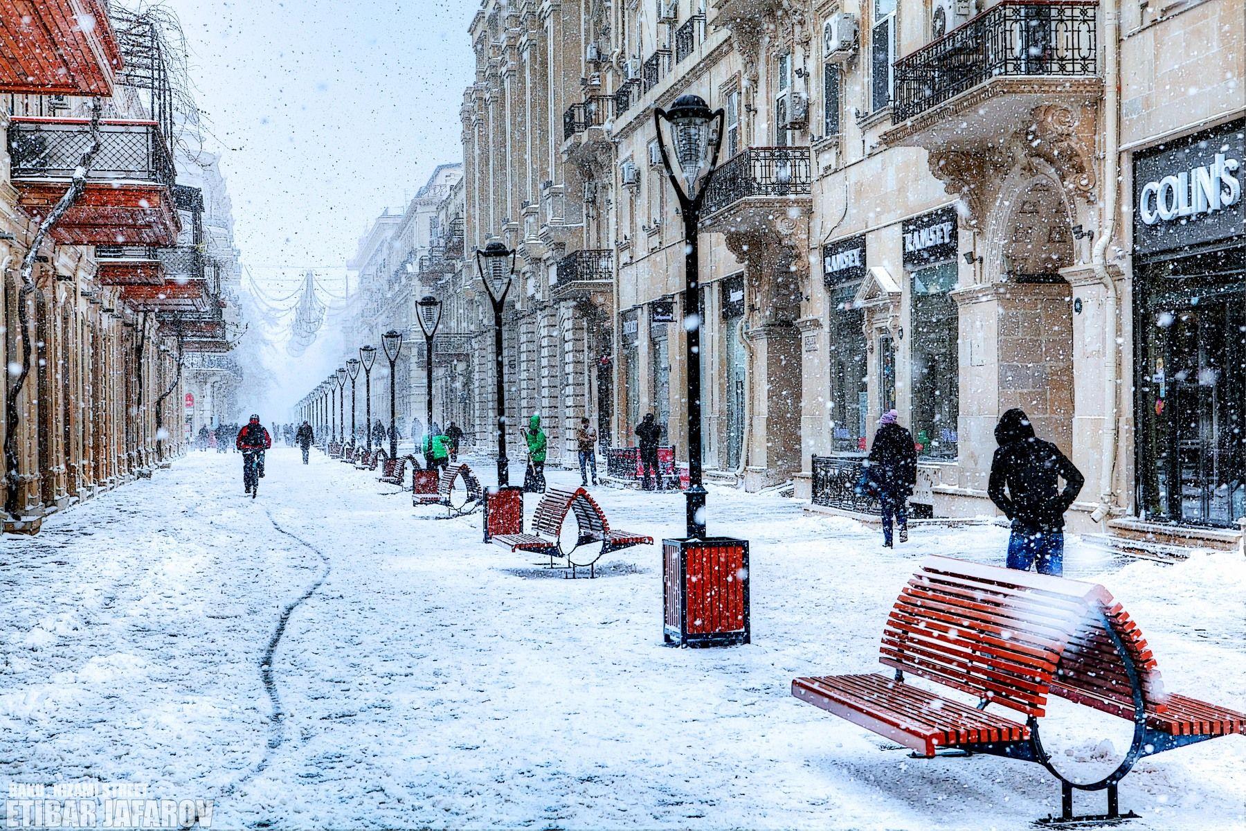 Фото зимнего баку