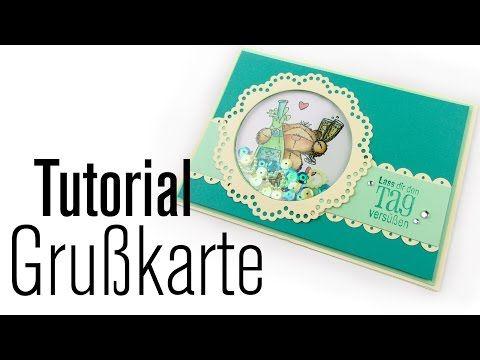 [Tutorial] Modern Vintage Grußkarte mit Schüttelelement   Anleitung DEUTSCH - YouTube