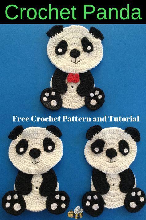 Sitting Panda Crochet Pattern • Kerri's Crochet