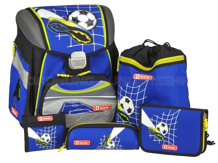 schulranzen light 2 set 4 teilig soccer team schule. Black Bedroom Furniture Sets. Home Design Ideas