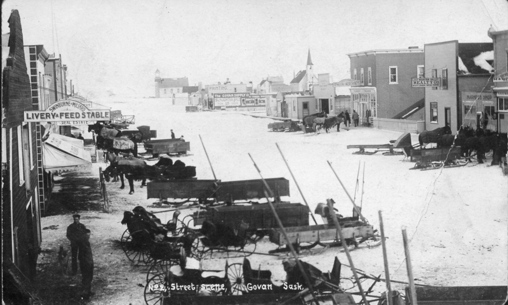 Govan, Saskatchewan. 1909 Saskatchewan
