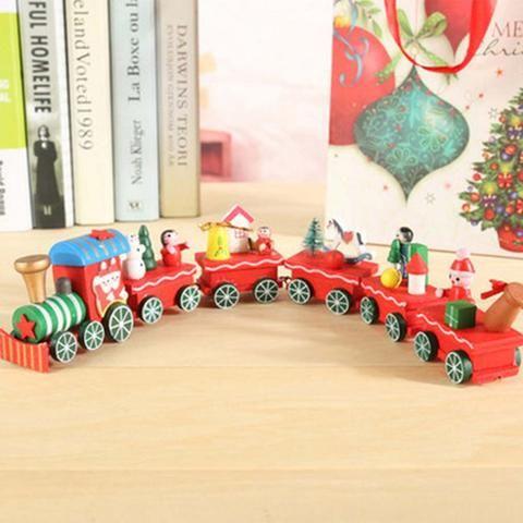 Details zu Sale High Quality 4 Pieces/Set Cute Fanny Wood Christmas - wood christmas decorations