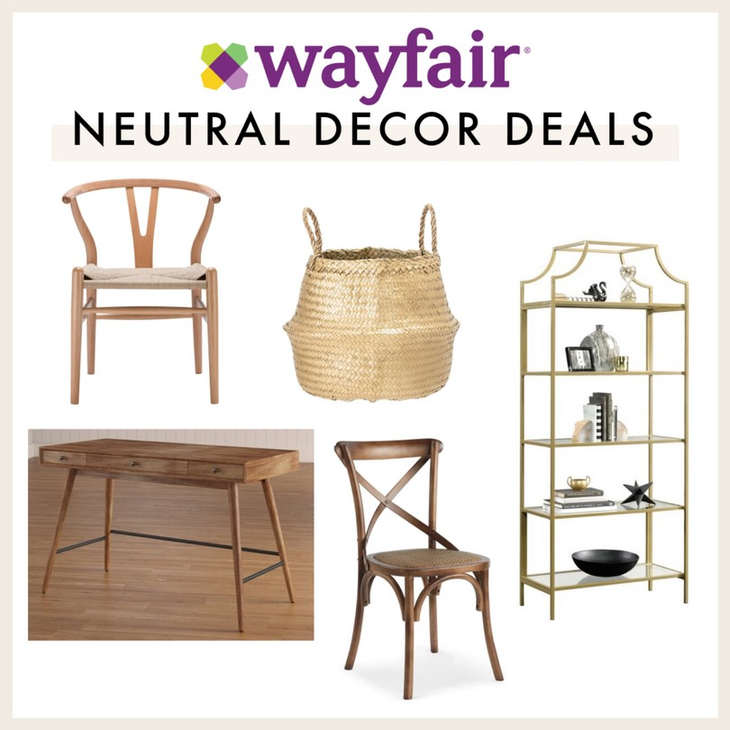 Neutral decor and furniture on sale this Black Friday at