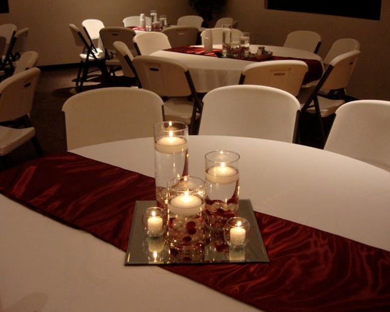 Exceptional Burgundy Table Runners