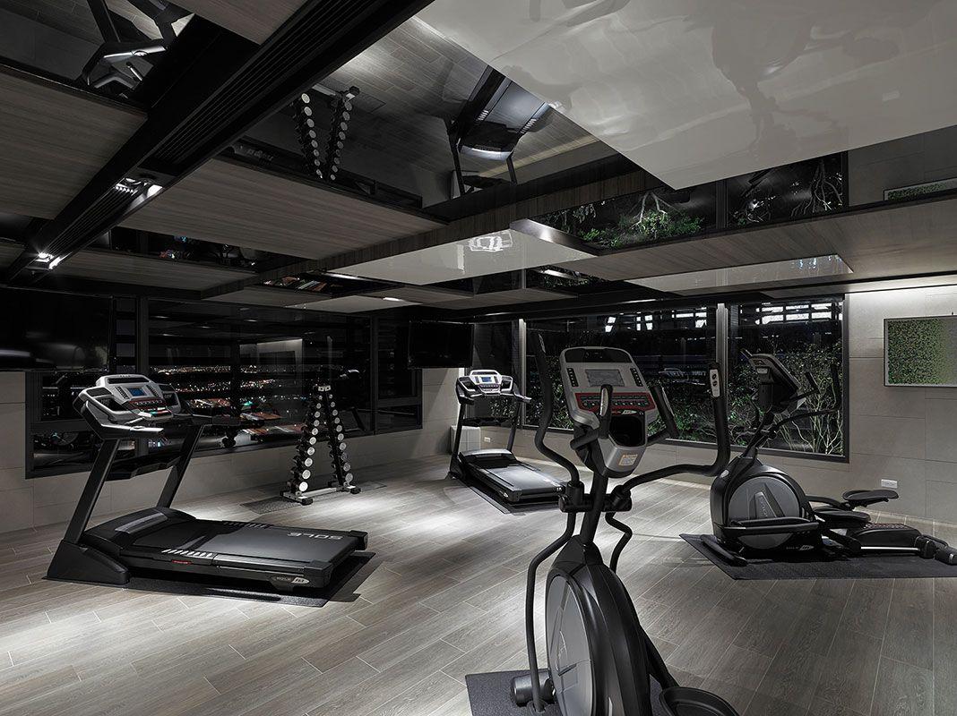 Modern Home Gym   Fitnessraum zu hause, Fitnesskeller zu ...