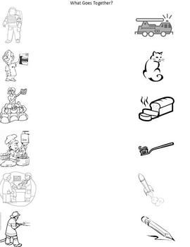 Worksheet Community Helpers Worksheets community helpers matching worksheet kindergarten preschool 1000 images about on pinterest community