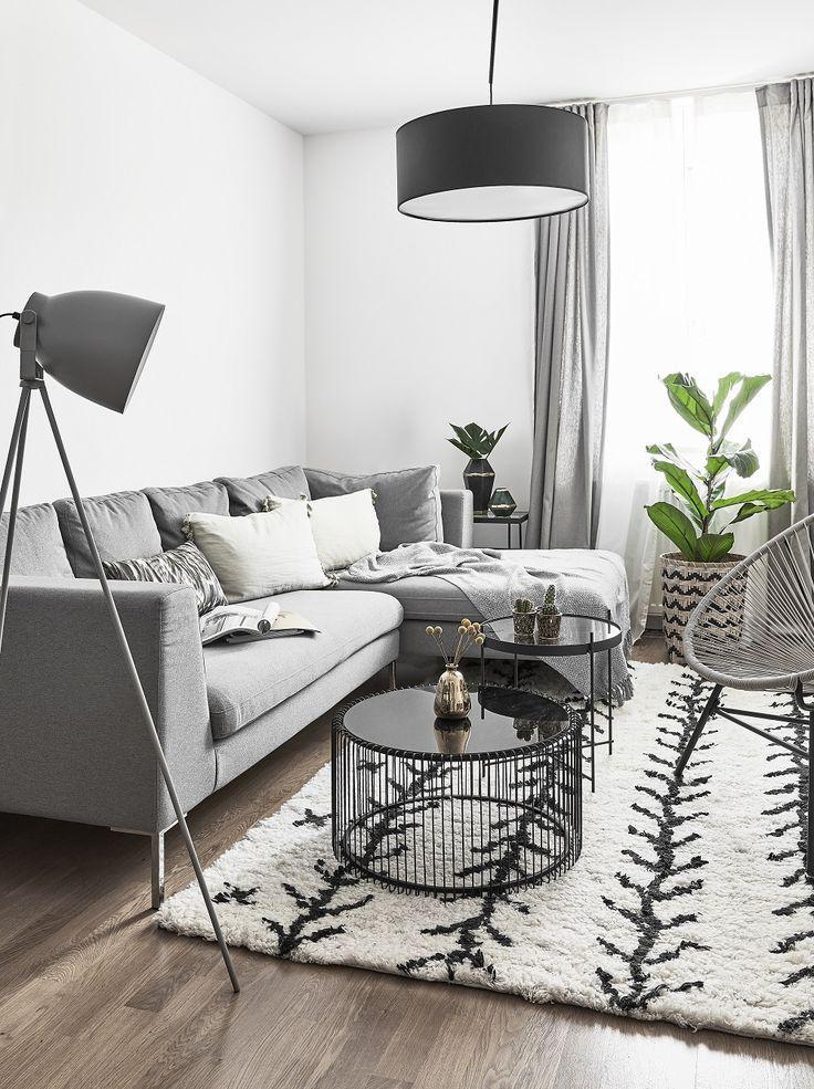Shades of Grey! Grau ist eine neutrale Farbe, die sich meist in - Wohnzimmer Design Wandfarbe Grau