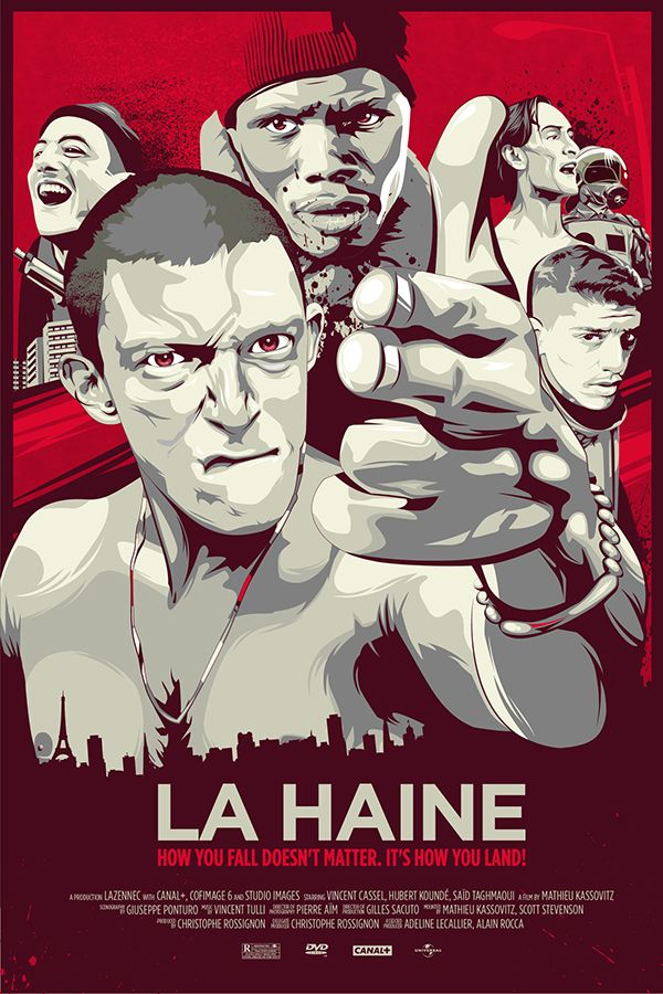 La haine Matthieu Kassovitz cult movie poster print